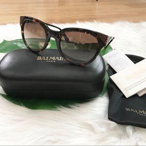 New Balmain Tortoise Shell Cat Eye Sunglasses